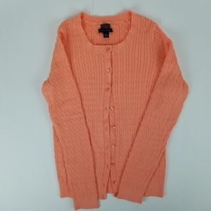 Tommy Hilfiger cotton cable knit cardigan size M